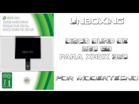 El regreso unboxing disco duro 250 GB por fin xbox 360