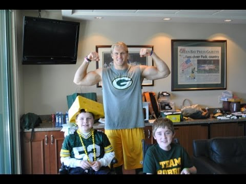 Luke and Robbies Dream Creator Trip to Lambeau Field to meet Clay Matthews of the Green Bay Packers