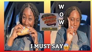 A LACTOSE INTOLERANT TRIES THE BEST PHILLY CHEESESTEAK???😋|TORNADO BURGER MUKBANG|EATING SHOW