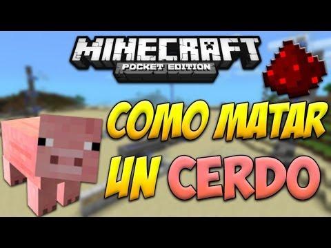 Minecraft PE Alternativas a Redstone: Como Matar a un Cerdo ÉPICO