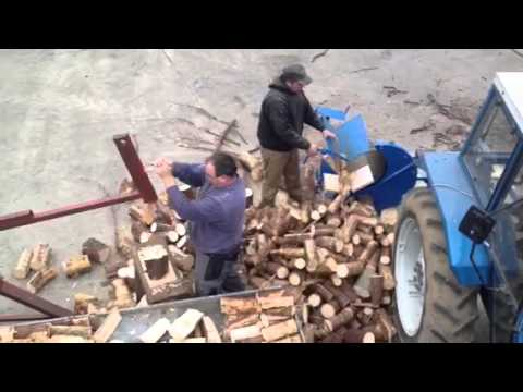 Homemade manual log splitter