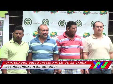 Policía cesar capturó cinco integrantes de la banda delincuencial los gordos
