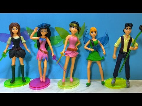 Disney Tinker Bell And The Pirate Fairy 5 Characters Unboxing Toy Review-Пират фея.El hada pirata
