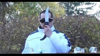 Cold Steel Espada XL Static Bottle Cuts Demo