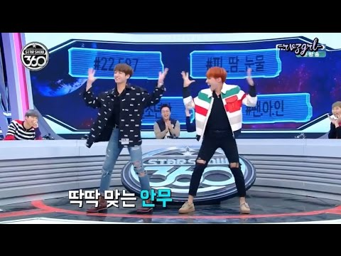 161107 Star Show 360 - BANGTAN JHope & Jungkook Girl Group Dance Red Velvet & IOI