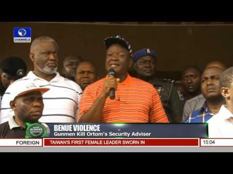 News Across Nigeria: Gunmen Kill Ortom's Security Adviser Pt.1