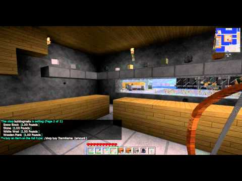 Oxygene13.co.uk Minecraft Server Local Shops addon tutorial