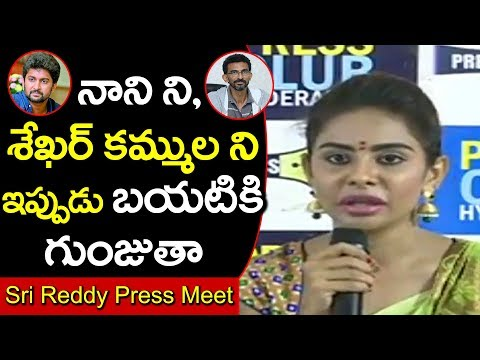 Sri Reddy Speech About Nani and Sekhar Kammula in Somajiguda Press Club #9Roses Media
