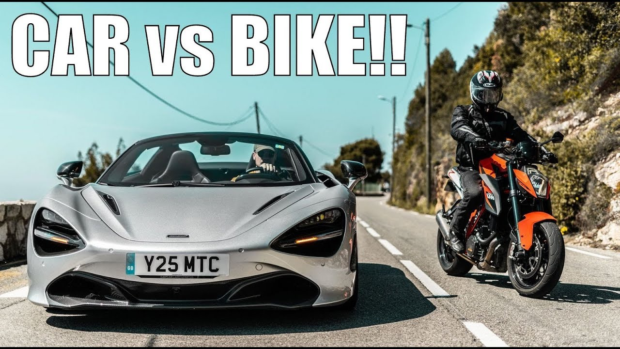 KTM Super Duke 1290 R vs McLaren 720s | BIKE vs CAR!!