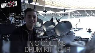 Nic Collins Presents His Drum Kit On Phil Collins 'Still Not Dead Yet Live' World Tour