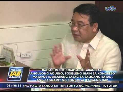 Impeachment vs Pres. Aquino, posibleng ihain sa Kongreso kapag naideklarang unconstitutional ang DAP
