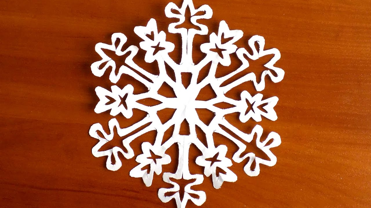 Как сделать снежинку из бумаги смотреть онлайн 93
