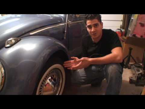 Classic VW Beetle Bug How to Correct Tire Pressure Tip Type1
