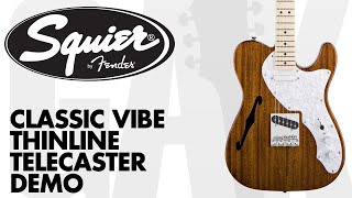 Squier - Classic Vibe Telecaster Thinline Demo at GAK