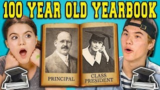 Download Lagu TEENS REACT TO A 100 YEAR OLD YEARBOOK?! Gratis STAFABAND