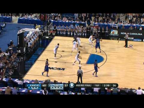 #1 North Carolina vs #2 Kansas 2012 Ncaa Tournament Elite 8 (Full Game)