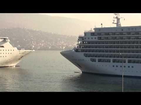 Costa Classica and Silver Sea Silver Spirit Izmir 25 Aug 2014
