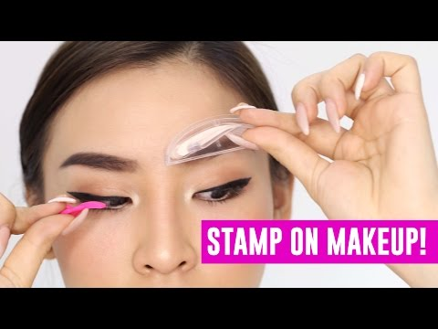 Stamp on Makeup! Does it work?   TINA TRIES IT
