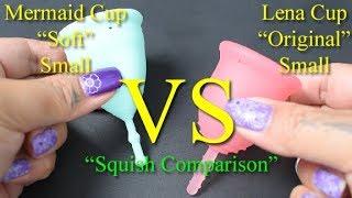 """Mermaid Cup Soft vs Lena Original Small """"Squish"""" - Menstrual Cups"""