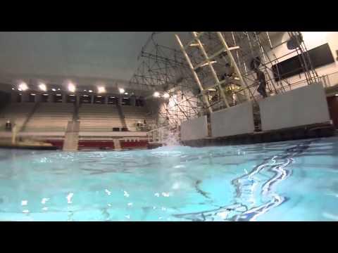 Entwarnung! Unterwasser-Trampolin funktioniert!