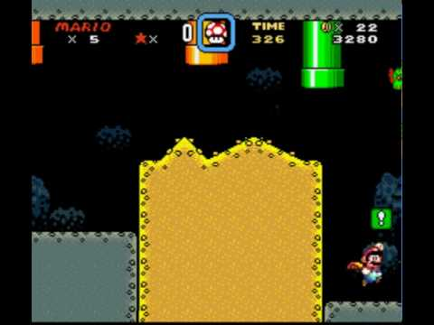How to get to the green switch palace in SMW