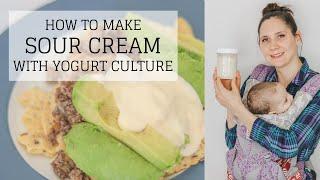 Sour Cream Yogurt Recipe   HOW TO MAKE SOUR CREAM   Bumblebee Apothecary