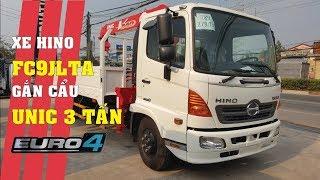 Đánh giá xe tải Hino FC9JLTA 6.4 tấn gắn cẩu Unic URV 340 3 tấn 4 khúc Euro 4