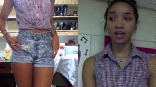 DIY| How to Cut Jeans into Highwaisted Shorts (Fool-proof trick!)