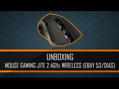 UNBOXING MOUSE GAMING JITE 2.4GHz WIRELESS (EBAY 53/DIAS)