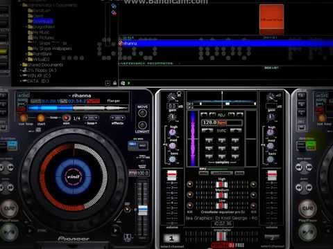 Virtual DJ Pioneer 4 decks