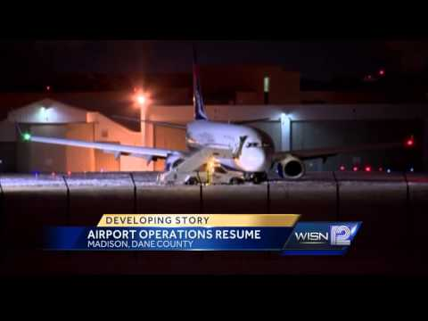 Dane County airport back to normal after plane misses taxiway