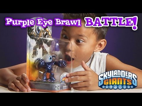 RARE Metallic PURPLE EYE BRAWL Review & Battle Mode vs. GLITTER HOT HEAD!