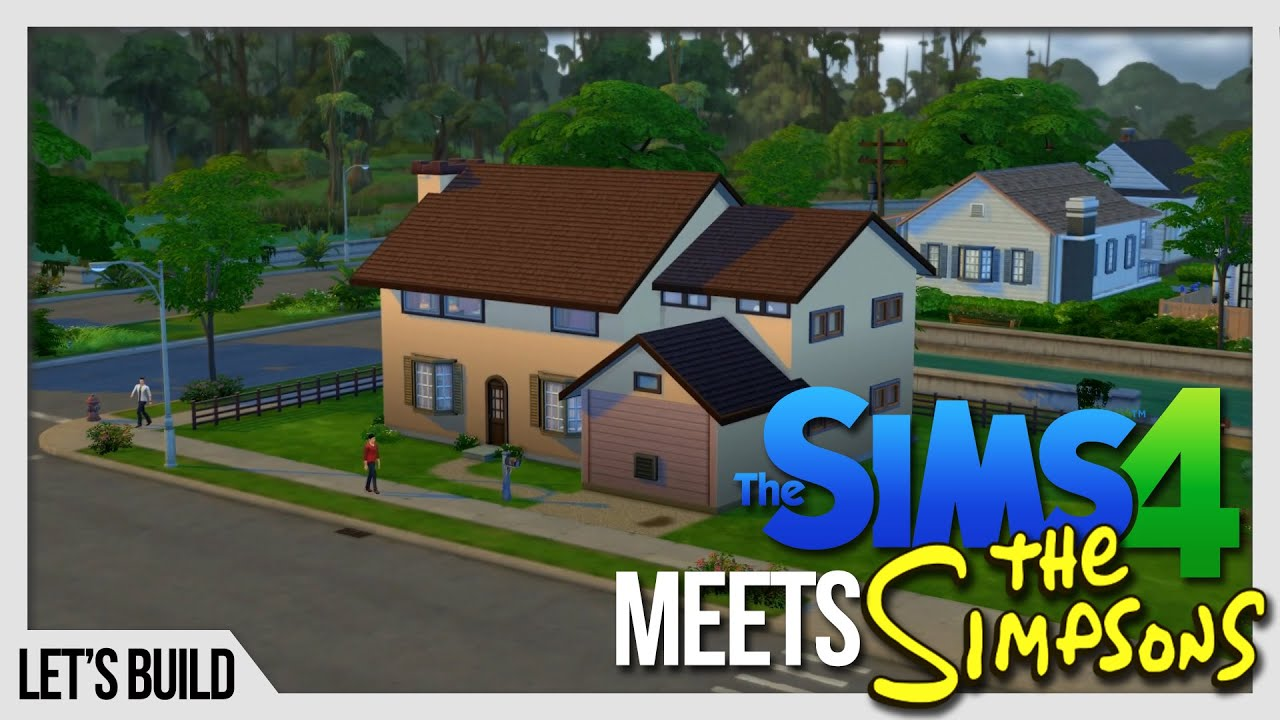 The sims 4 let 39 s build the simpsons 39 house youtube for 742 evergreen terrace real life