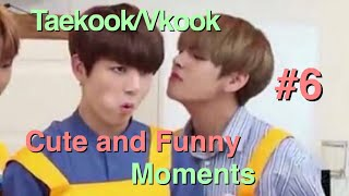Taekook/Vkook cute and funny moments #6 || taekooksjams