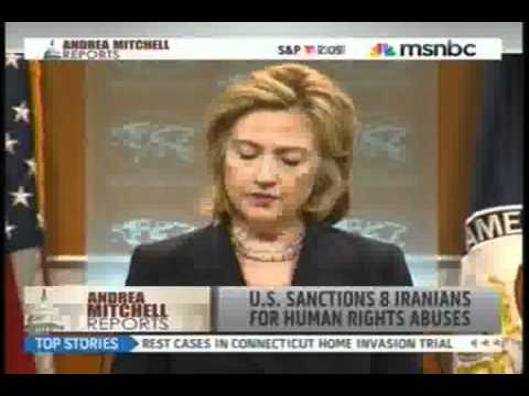 SECRETARY OF STATE HILLARY CLINTON ANNOUNCES NEW AND THE FIRST SANCTIONS ON IRAN