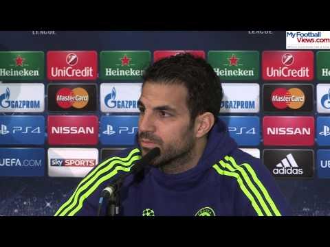 Cesc Fabregas jokes around with translator