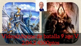 Battle report 4500 The ninth age Highborn Elves VS Warriors of the Dark Chaos