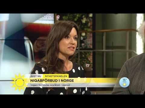 """Burkaförbudet i Norge: """"Att bära Niqab är inget man tar till en bad hairday"""" - Nyhetsmorgon (TV4)"""
