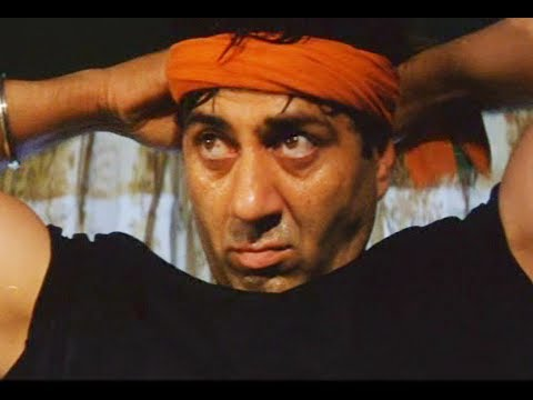 Sunny Deol Save Abbas From Air Bomb Blast - Champion Movie - Action Scene video