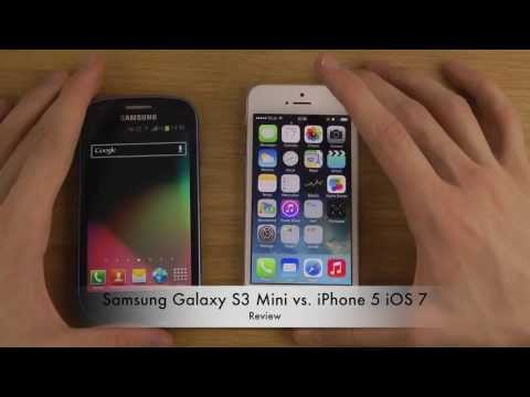 Samsung Galaxy S3 Mini vs. iPhone 5 iOS 7 - Review