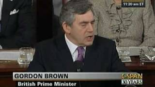 Prime Minister Gordon Brown Address to Congress