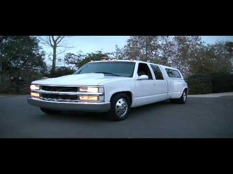 96 Chevy GMC 1 Ton 3500 454 Dually Lowered Alcoa Truck Air Bags For Sale Video