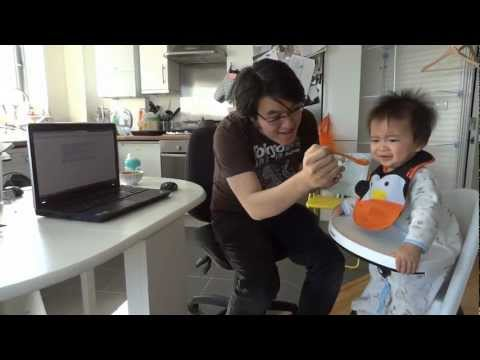 Power of Gangnam Style - Baby Benjamin eats reaction dancing sleeping fussy parody 