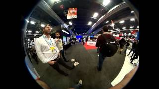 GDC 2015 show floor via Kodak Pixpro SP360 - Forward