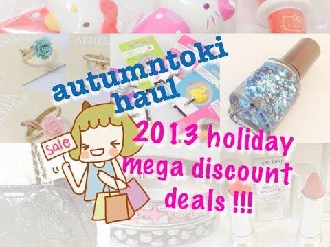 HAUL ❤️ 2013 holiday deals! hello kitty lancome missha james perse etc 聖誕購物大減價 ❤️ autumntoki