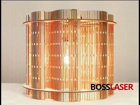 DIY CO2 Laser Cut Living Hinge Wooden Lampshade - Free Download