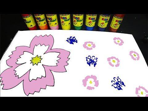 물감으로 영어 숫자 배우기 놀이 Play to Learn English Numbers by Painting.