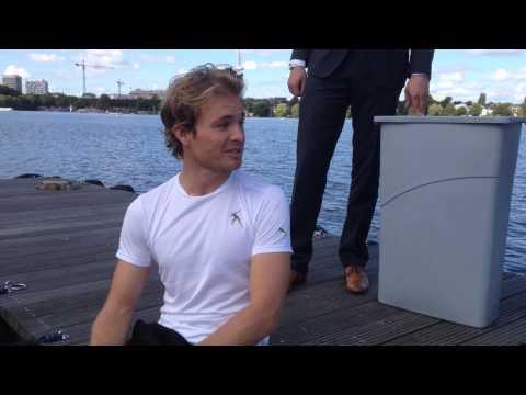 Nico Rosberg ALS ice bucket challenge