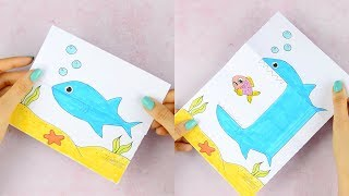Suprise Big Mouth Shark Printable Paper Craft for Kids