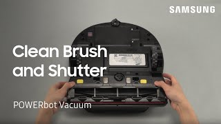 02. How to Clean the Brush and Shutter on Your POWERbot Vacuum | Samsung US